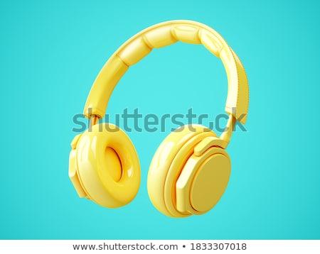 headphones background stock photo © lizard