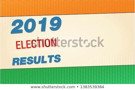 Indian banderą etykiety wyborów kraju graficzne Zdjęcia stock © SArts