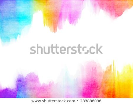 Colorido mancha frontera aislado fondo compras Foto stock © adamson