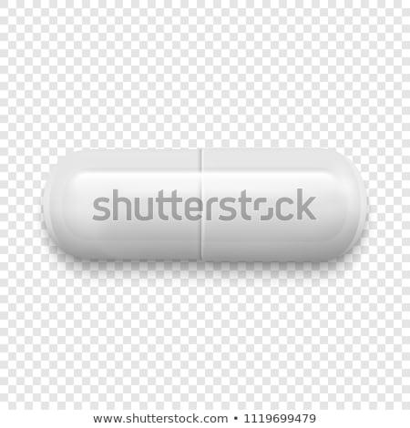 Vetor realista branco médico pílula isolado Foto stock © netkov1