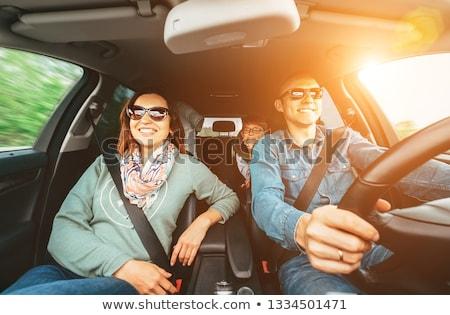 mężczyzna · kobiet · znajomych · samochodu · uśmiech - zdjęcia stock © andreypopov