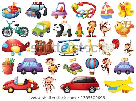 Stock photo: large set of toys