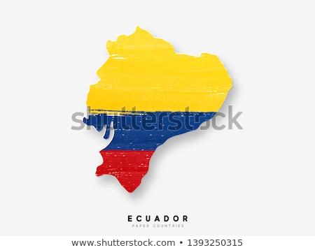 Ecuador · vlag · witte · landschap · Blauw · reizen - stockfoto © butenkow