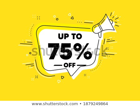 Seventy Five Percent Or 75 Special Offer Vector Stock photo © pikepicture