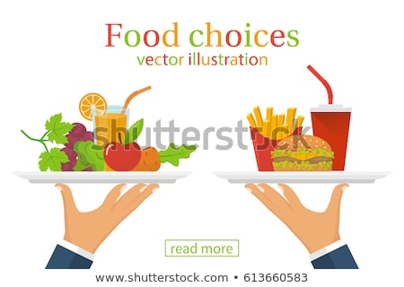 Overweight People, Fast Food or Unhealthy Vector Stock photo © robuart