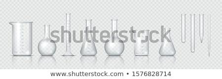 химии пробирку иллюстрация сердце фон образование Сток-фото © bluering