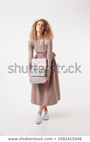 Imagen alterar rizado mujer Foto stock © deandrobot