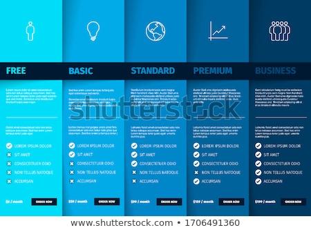 Termékek tulajdonság ár lista asztal szolgáltatás Stock fotó © orson