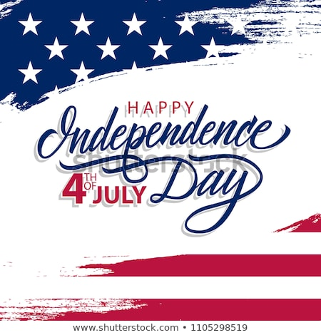 4th of July Independence Day of the USA Vector Illustration with American Flag in Heart. Fourth of J Stock photo © articular
