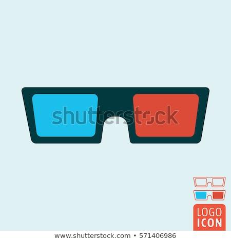 3d-bril film grafisch ontwerp sjabloon vector papier Stockfoto © haris99