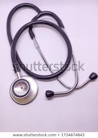 focus · medische · stethoscoop · arts · aanraken · patiënt - stockfoto © freedomz