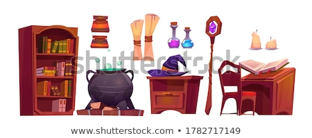 Stock photo: Fairy-tale pot with magic of witch potion
