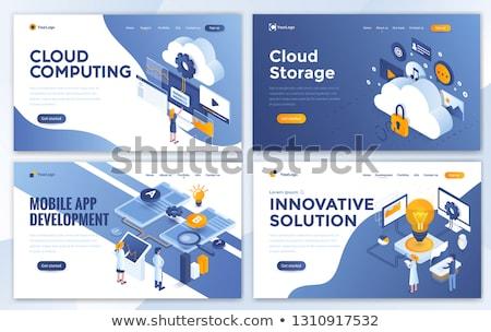 Global web connection concept landing page. Stock photo © RAStudio
