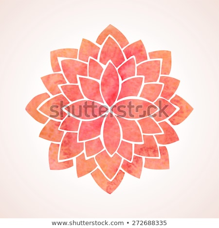 pattern with Watercolor lotus flowers and leaves. Stock photo © Margolana