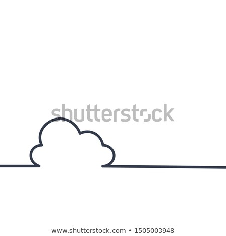 Continuous line cloud drawing. hand drawing style. for your web site design, logo, app, UI. Stock Ve Stock photo © kyryloff