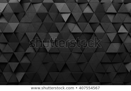 Donkere zwarte driehoek ontwerp textuur Stockfoto © SArts