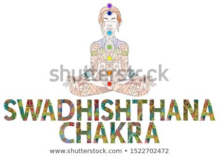 Chakra vector object decoratie kunst ontwerp Stockfoto © Natalia_1947
