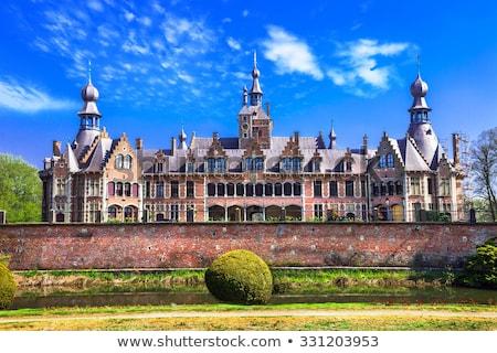 Castillo Bélgica ciudad cielo hierba edificio Foto stock © borisb17