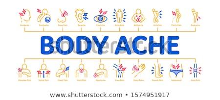 Dolor de cabeza mínimo infografía banner vector web Foto stock © pikepicture