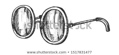 Glasses Round Shape Lens Accessory Ink Vector Stock photo © pikepicture
