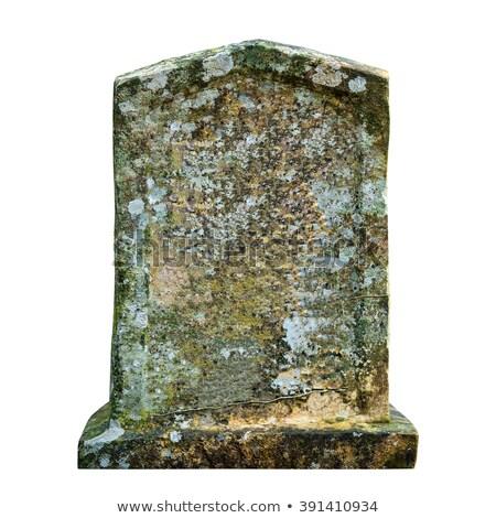 vieux · pierre · tombale · herbe - photo stock © filipw