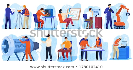 engineering technology worker building vector stock photo © robuart