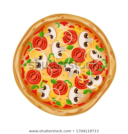 Wegetariański włoski pizza plakat wektora Zdjęcia stock © pikepicture
