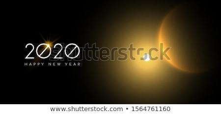új év arany nap fogyatkozás égbolt háló Stock fotó © cienpies