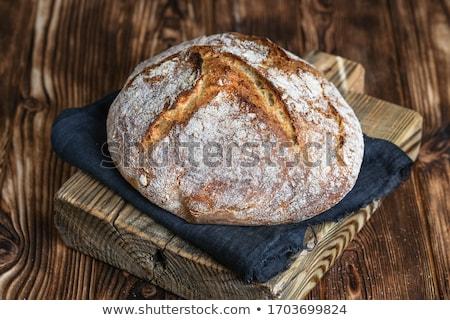 Rustik ekmek somun buğday kulaklar Stok fotoğraf © Digifoodstock