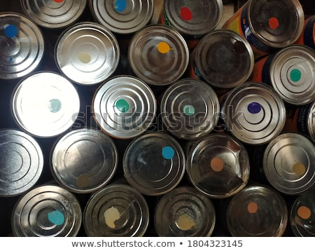 Paint brush, tin can and color guide samples Stock photo © JanPietruszka
