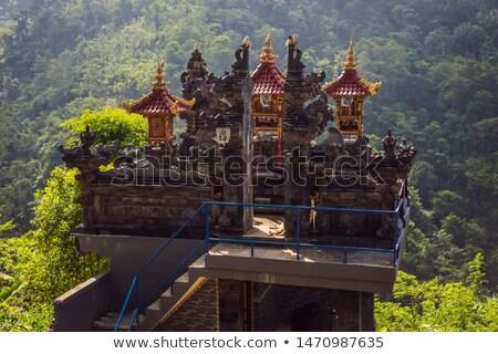 Traditioneel huizen panoramisch jungle tropische Stockfoto © galitskaya
