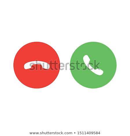 Telefoongesprek iconen oproep dalen knop groene Stockfoto © kyryloff