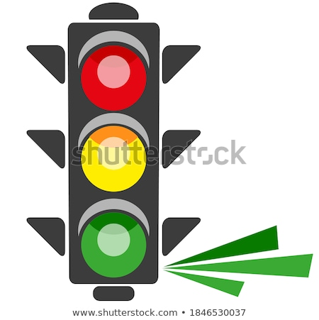 #COVID19 Green Road Sign Isolated On A White Background Stock photo © feverpitch