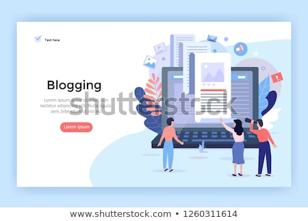Shared document concept landing page. Stock photo © RAStudio