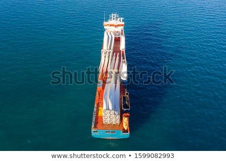 éolienne ciel bleu profonde pouvoir extérieur Photo stock © brianguest