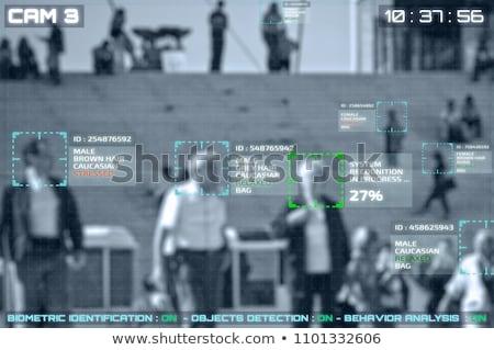 AI Facial Recognition On CCTV Surveillance Screen Stock photo © AndreyPopov