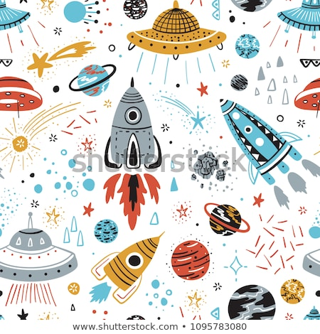 Rockets, spaceships vector seamless pattern Stock photo © barsrsind