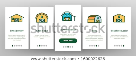 Farming Landscape Onboarding Elements Icons Set Vector Stock photo © pikepicture