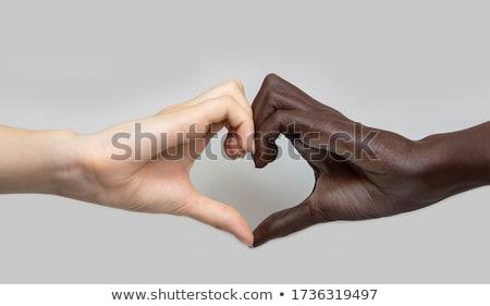 Strijd racisme discriminatie 3d illustration communie zwarte Stockfoto © Lightsource