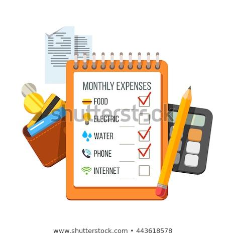 Mensual planificación vector metáfora recordatorio Foto stock © RAStudio