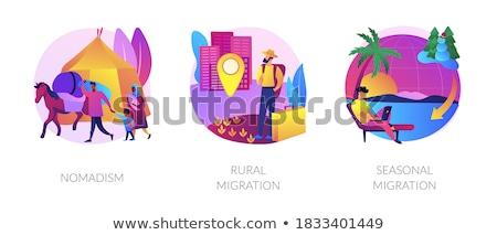 Seasonal migration abstract concept vector illustration. Stock photo © RAStudio
