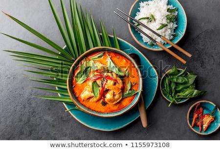Kırmızı köri sebze pirinç mutfak Stok fotoğraf © joker