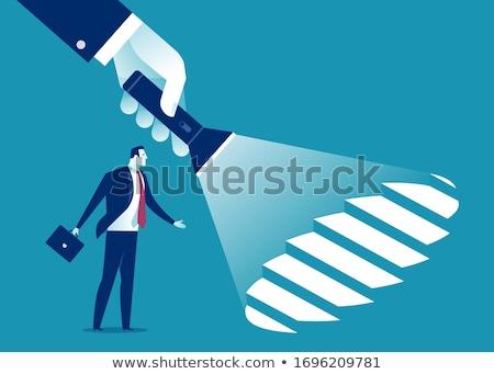 férfi · kéz · fegyver · nyakkendő · pisztoly · gyilkosság - stock fotó © joyr