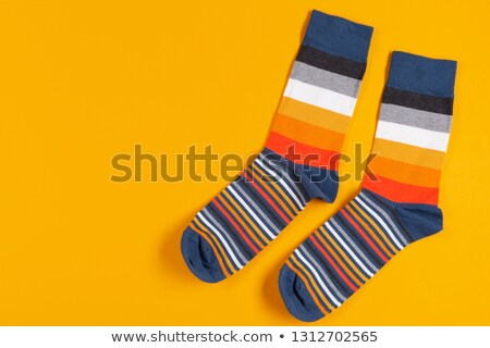 Two feet in multi-coloured socks Stock photo © Paha_L