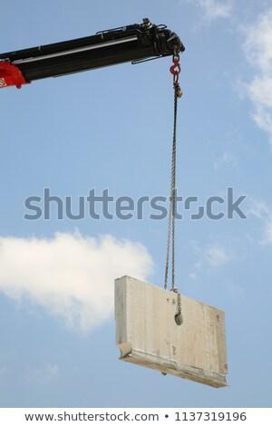 塔 · クレーン · 曇った · 空 · ショット - ストックフォト © paha_l