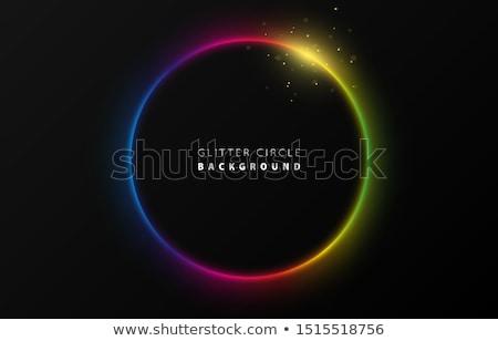 Resumen arco iris curvas estrellas negro fiesta Foto stock © orson