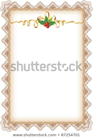 or · Noël · rouge · arc · papier · défiler - photo stock © taiga