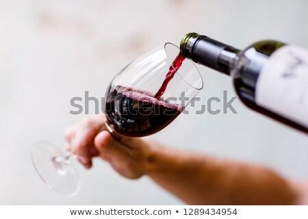 Tilted red wine Stock photo © leeser