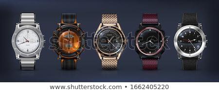 Chroom horloge zwarte mannen tijd donkere Stockfoto © Raduntsev