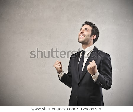 Portrait of a successful businessman, winner Stock photo © stockyimages